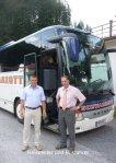 Reiseleiter und Busfahrer
